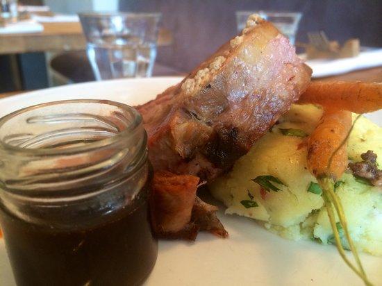 Graze Kitchen & Bar: Lamb shoulder with mash and carrots.