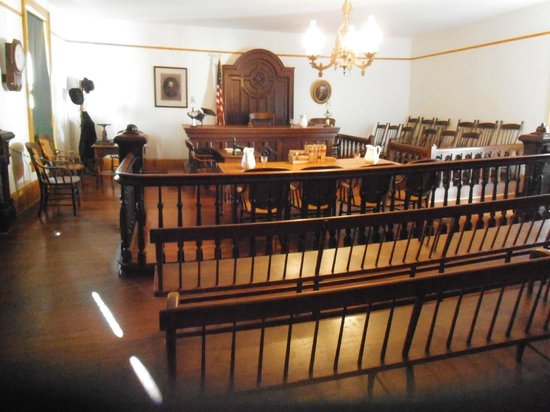 Whaley House Museum: the courtroom