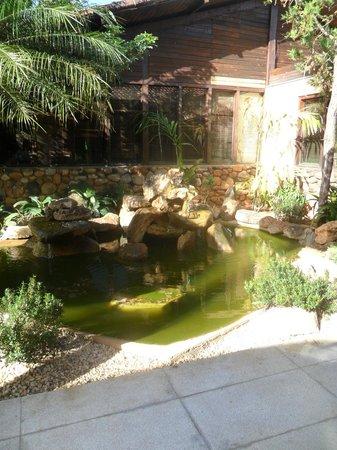 Aguas de Santa Barbara Resort Hotel : fonte da entrada da recepção