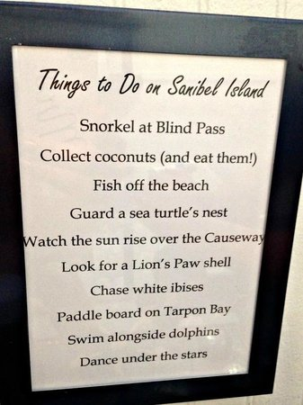 Sanibel Cafe : Things to do in Sanibel, nice touch