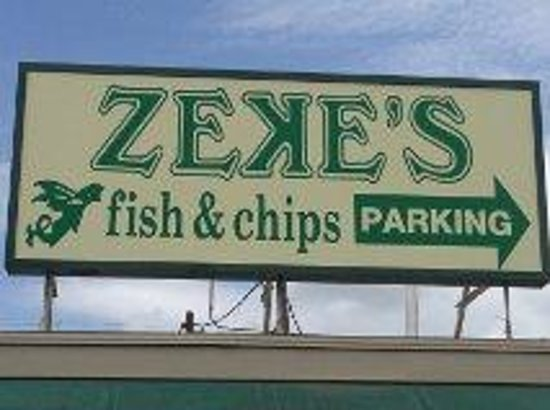 Parking is also around the back picture of zeke 39 s fish for Zeke s fish