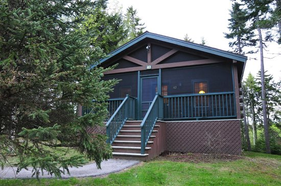 Point Lookout: Our wonderful cabin.