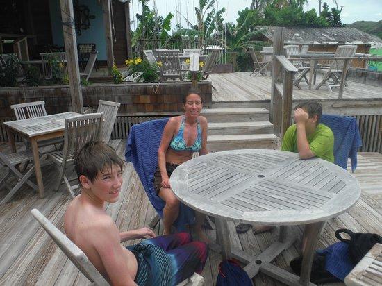 Spice Mill Restaurant: bottom deck on level of beach