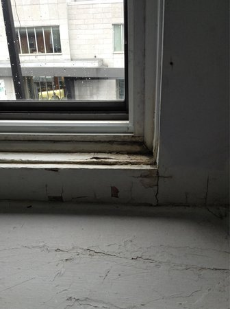 Hotel Stay Mont Royal : This was the window in room 11.  The paint was chipped off the windows and the corners were extr
