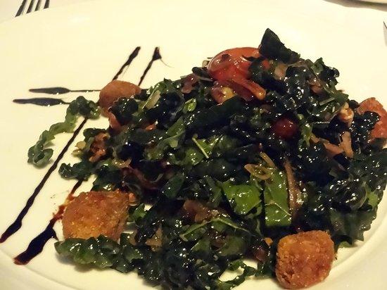 Eiffel Tower Restaurant at Paris Las Vegas : Kale salad from prix fixe menu