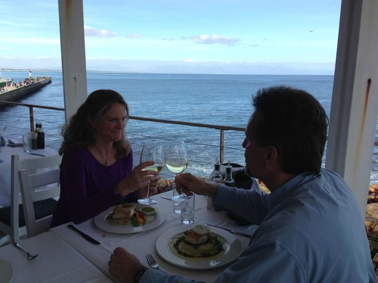 Harbour House: Enjoying a delicious lunch in a beautiful setting.