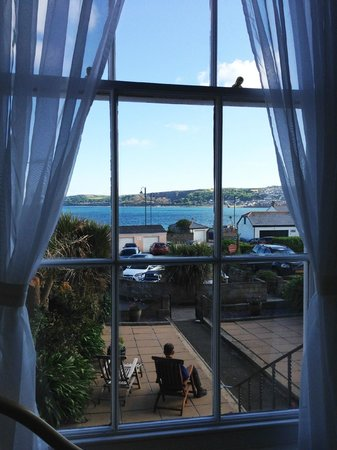 Warwick House: First floor bedroom view of Penzance harbor