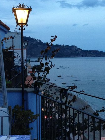 Hotel Palladio: View from terrace restaurant that overlooks the sea