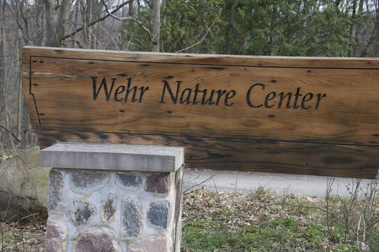 Wehr Nature Center: welcoming sign