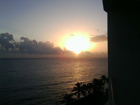 The Condado Plaza Hilton: Another sunset from our balcony!