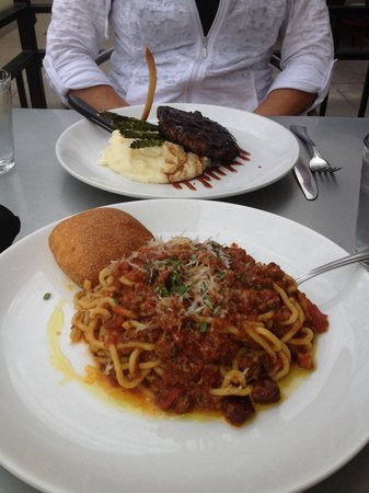 Basta: Really good steak and pasta!
