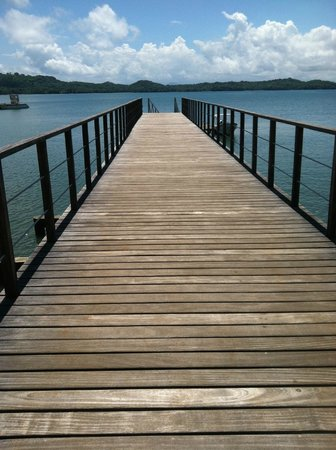 The Resort at Isla Palenque: The dock where you arrive/depart. Boat Excursions leave from here