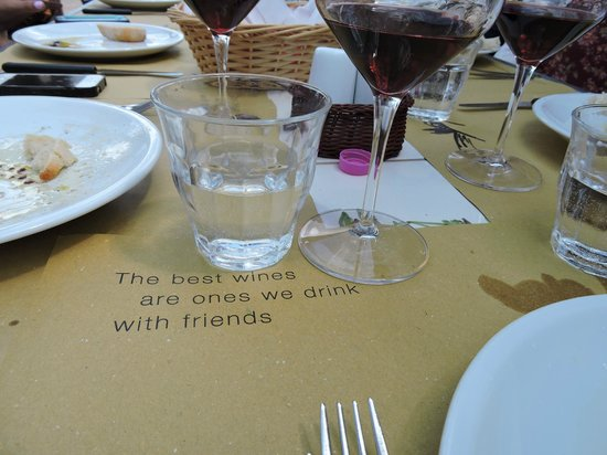 Tuscan Wine Tours by Grape Tours: Adorable and memorable quote comes free with lunch