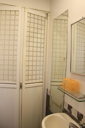 Golden Crown Guesthouse: shower door