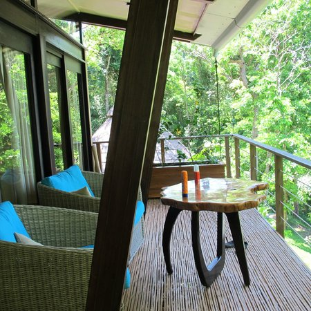 The Resort at Isla Palenque: Our' balcony. From here you can see the ocean, the jungle, the grounds but it's still private.