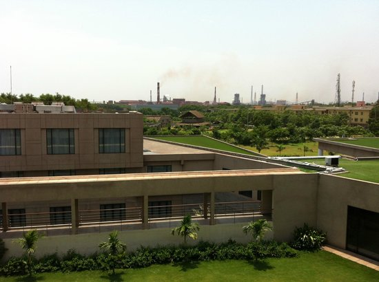Hyatt Place Hampi : View out to the steel factory