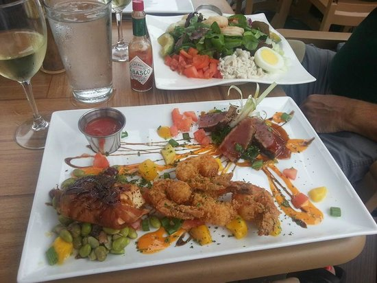 Seafood trio fish tale grill by merrick seafood for Fish tale grill
