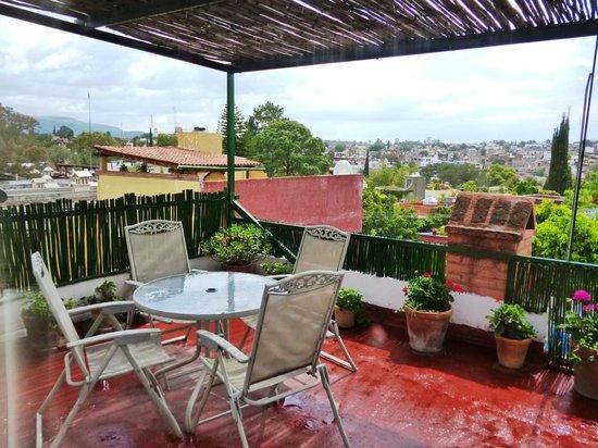 Hospedaje El Colibri: Terraza vista hespectacular