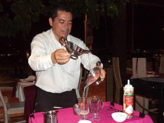 La Taverna GastroBar: Jimbo, making sexy lady coffees.