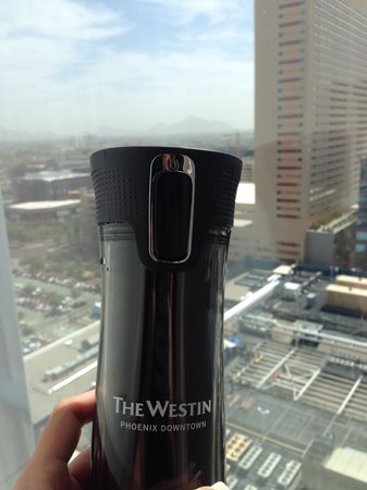 Westin Phoenix Downtown: Westin cup and view