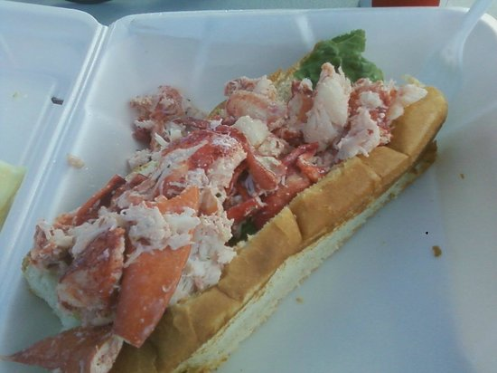 Lobster Roll from Carrier's Mainely Lobster  May 2014