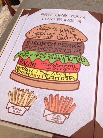 Hyatt Zilara Cancun: build your own burger at Pelicano's