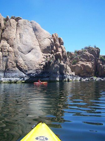 Kayaking at Watson Lake