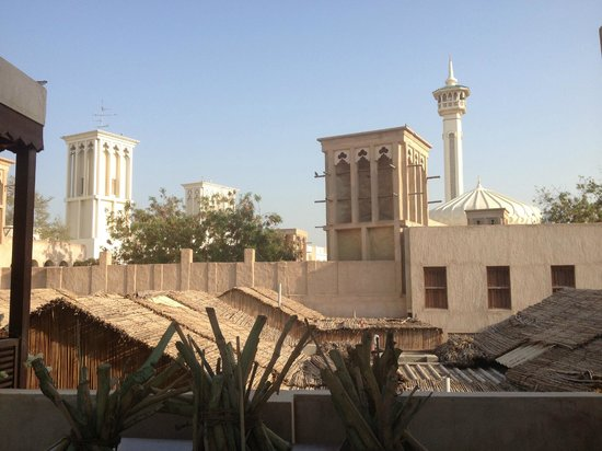 XVA Art Hotel : View of the wind towers and local mosques in Bastakiya from the hotel.