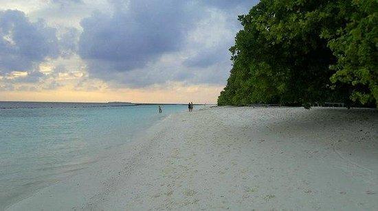 Royal Island Resort & Spa: наша часть пляжа / near the house