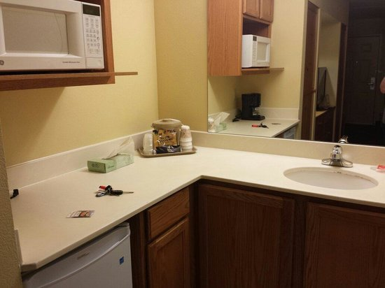 Econo Lodge Riverside: #118 sink/microwave/ fridge area