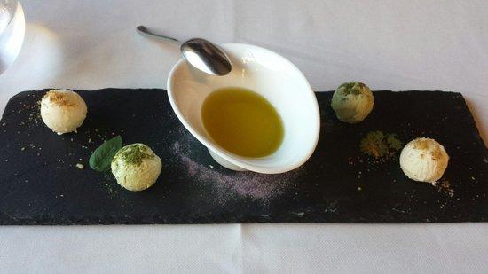 Sao Rafael Atlantico: Vorspeise im Restaurant Mediterraneo