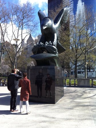 Eagle Statue battery park NYC.