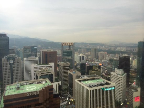 Lotte Hotel Seoul: View from my hotel room