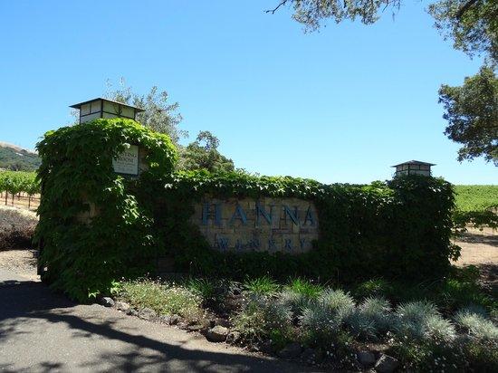 Hanna Winery: sign