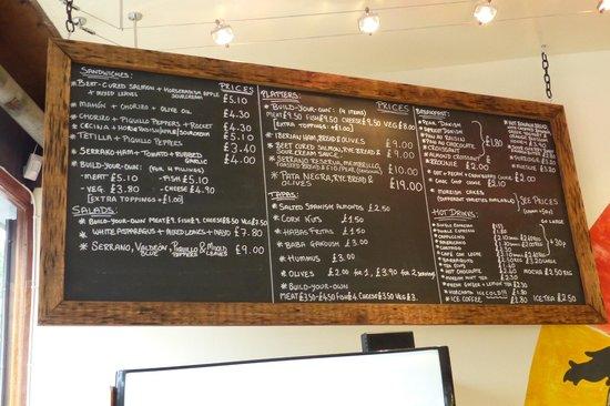 Moreish cafe deli ltd: Coffee and light bites menu at Moreish