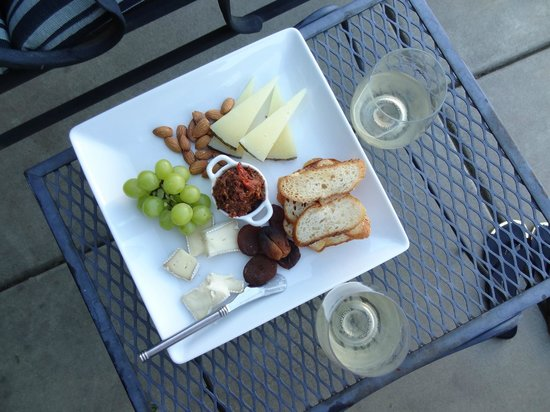 Chateau de Vie: one of their daily fresh cheeses & fruit plates
