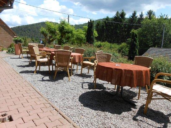 Restaurant au Wasigenstein : L'une des deux terrasse