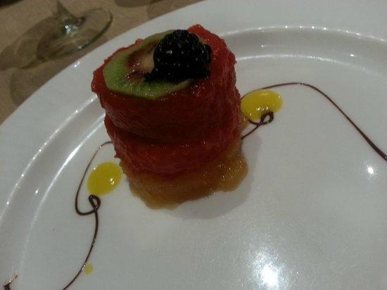 Catalonia Royal Tulum: dolce alla frutta. ristorante messicano