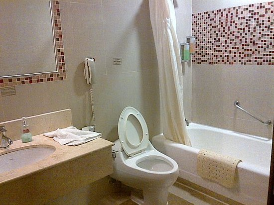Hotel Taipa Square: Room Toilet