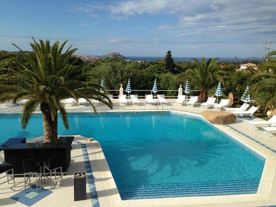 Hôtel Corsica : vue du balcon de la chambre