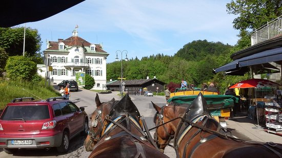 Schloss Hohenschwangau: horse ride up to the castle