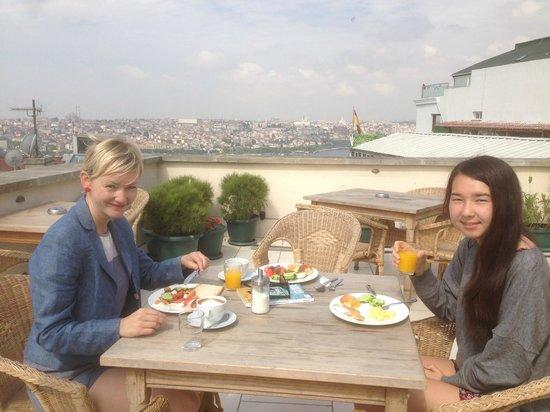 Adahan Istanbul: roof terreace view