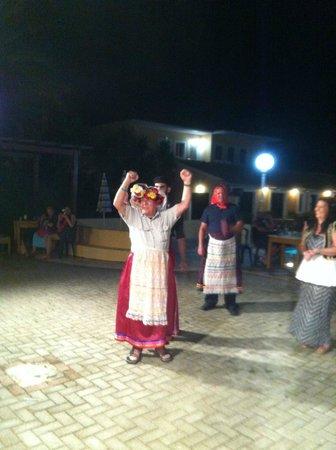 Summertime Hotel Apartments: Ken doing a greek dance