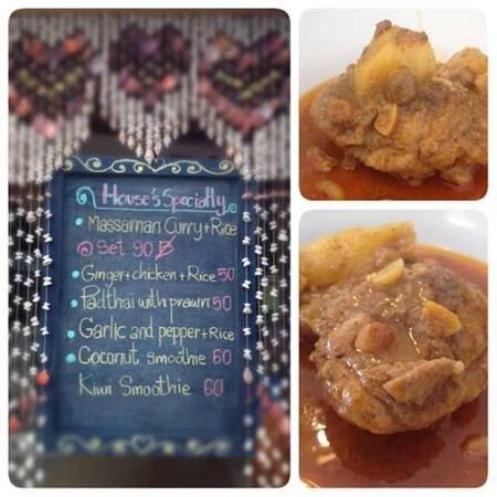 Sandwich Me: House specialty, Massamun curry