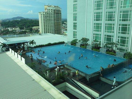 Hatten Hotel Melaka : pool view from room1568