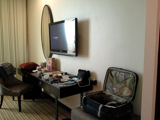 Hatten Hotel Melaka : view of the sofa with 2nd tv