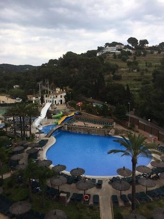Rosamar Garden Resort: view from balcony of room 525