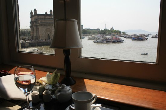 The Taj Mahal Palace: A view from the Sea Lounge to the Gateway of India
