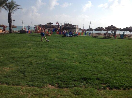 Maxx Royal Belek Golf Resort: Grass area near beach bar