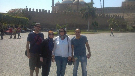 Moustafa Egypt Tours: Dianne(me) Kelly , Mike & Moustafa at the Citadel